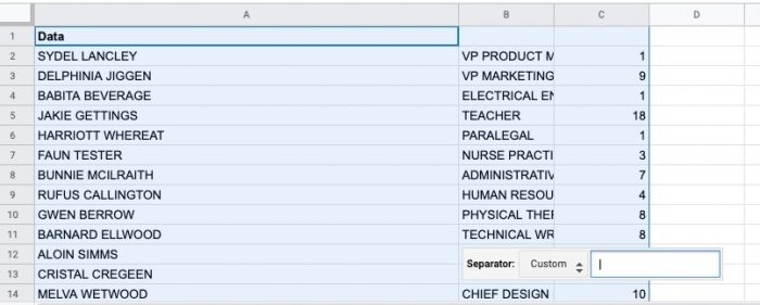 cleaning up ugly data using spreadsheets for human resources