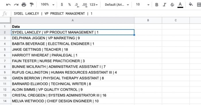 how to clean ugly data in google sheets for human resources