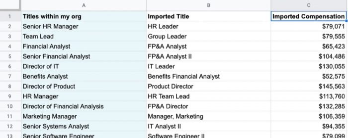 Learn how to use Google Sheets to perform an annual salary compensation review.