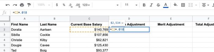 One important thing during an annual salary review is adjusting for inflation.