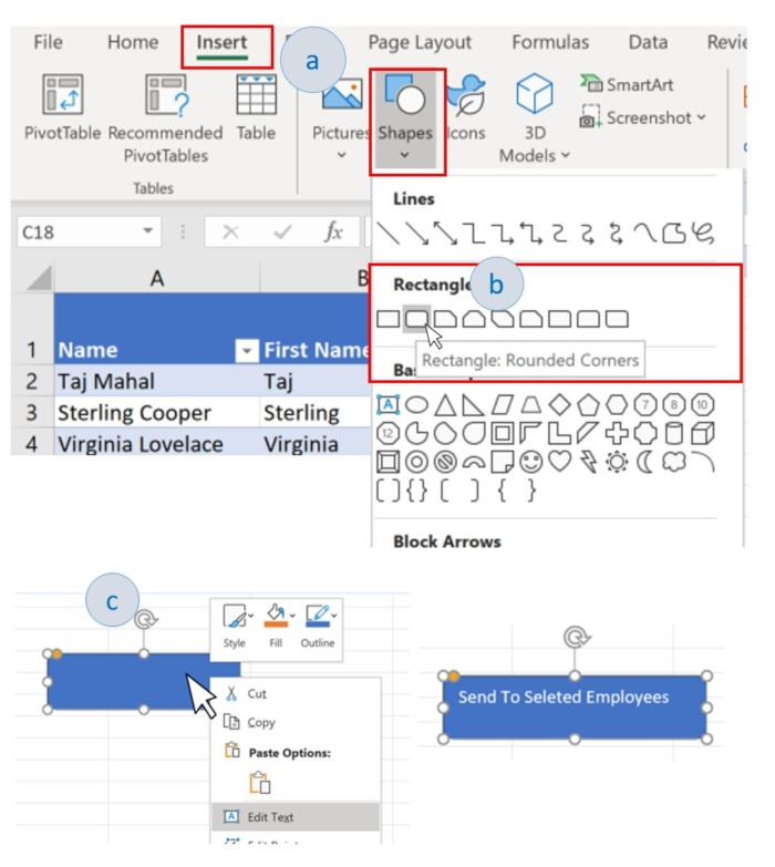 How to add a shape to your Excel worksheet